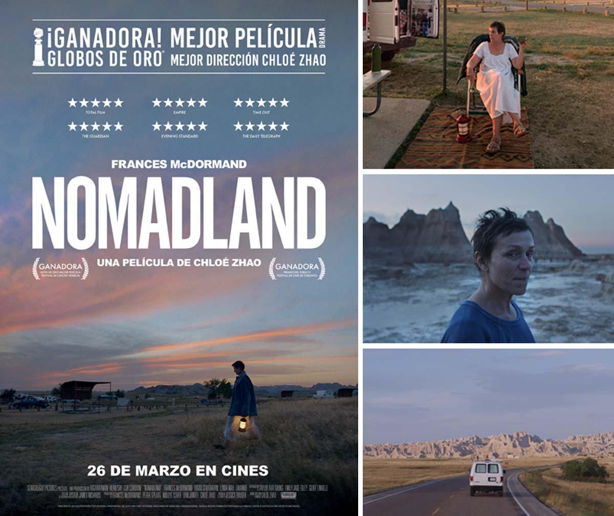 Imágenes y cartel de la película Nomadland