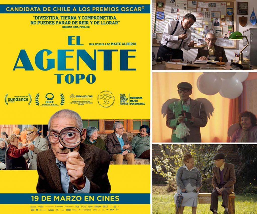 """Imágenes y cartel de la película documental """"El agente topo"""""""