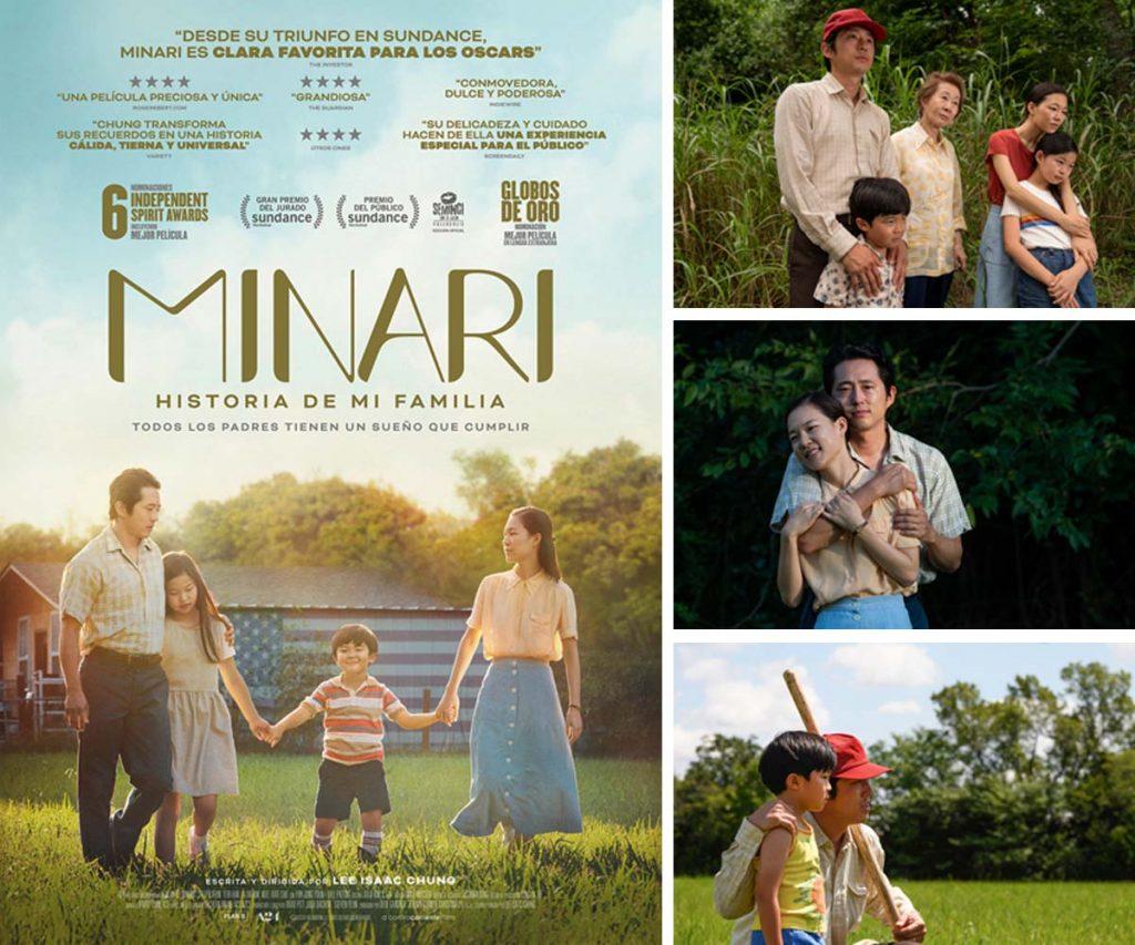"""Cartel e imágenes de la película """"Minari. Historia de mi familia"""""""
