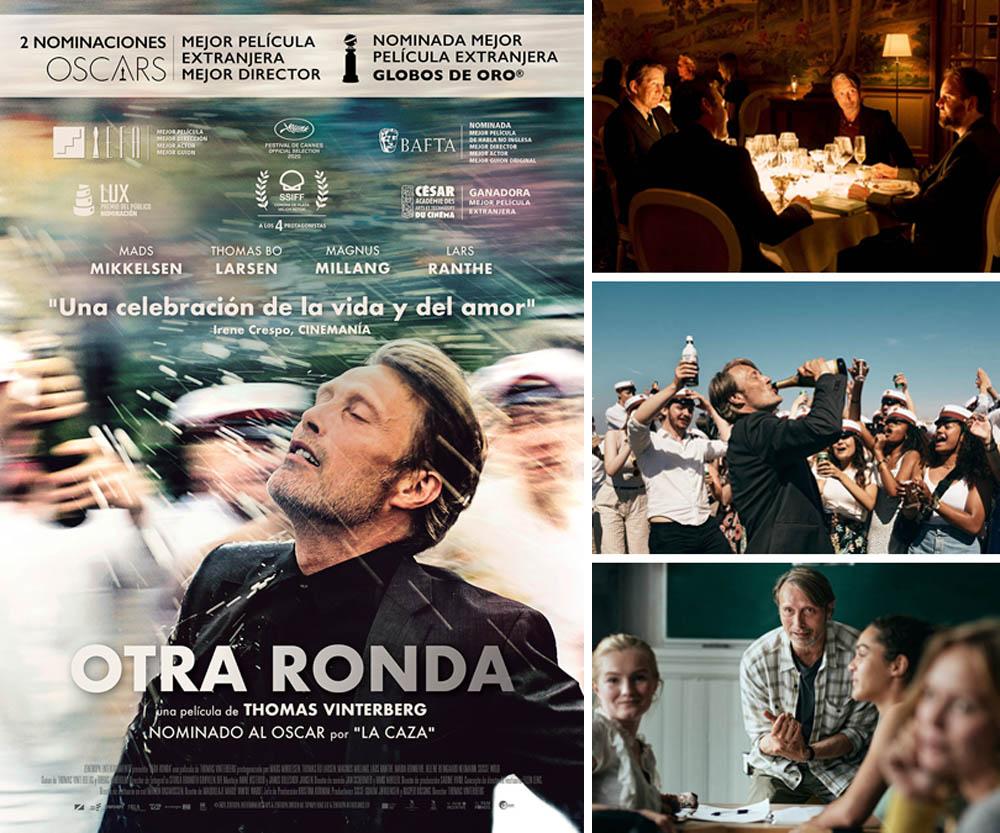 """Imágenes y cartel de la película """"Otra ronda"""" (Another round)"""