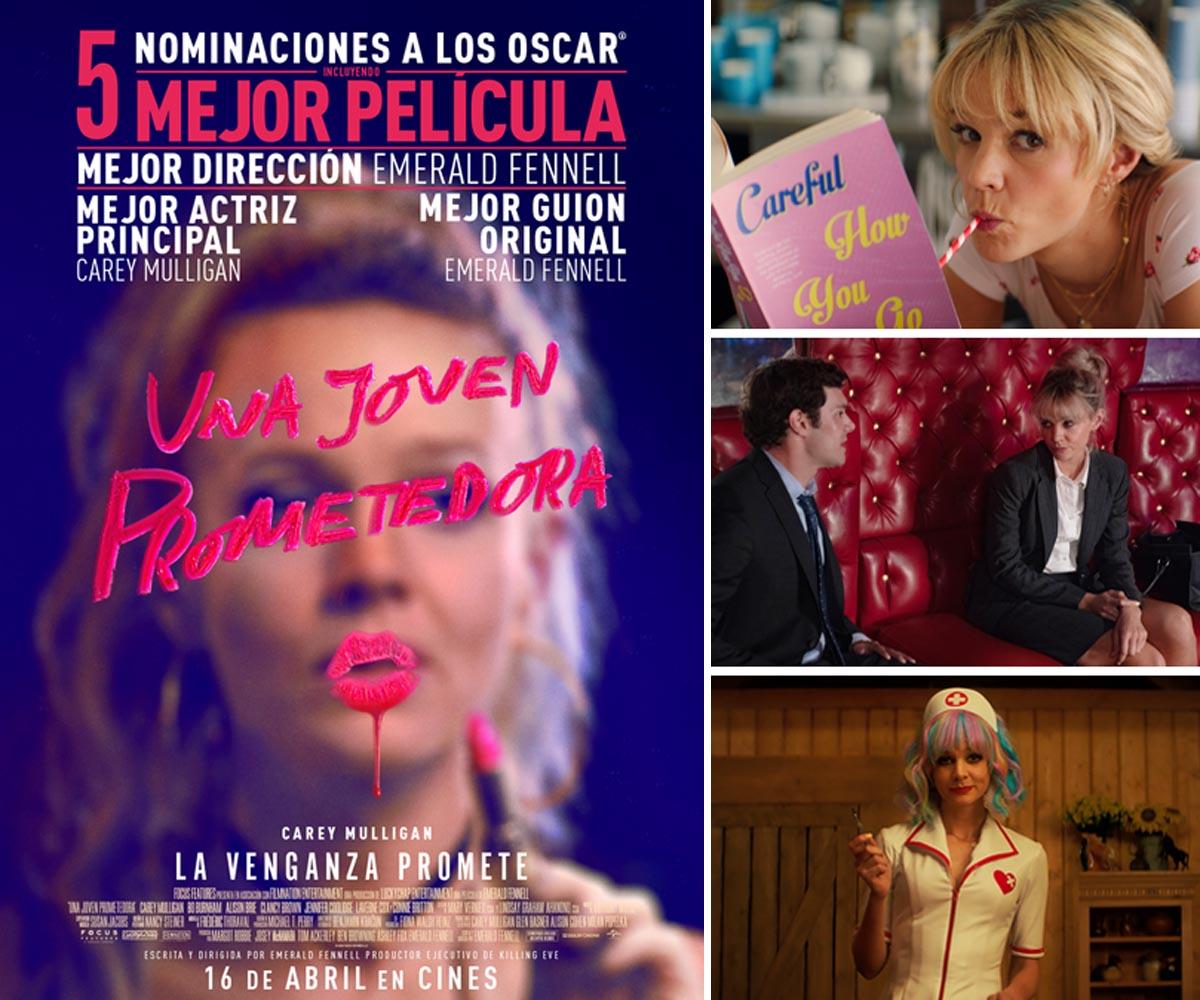 Imágenes y cartel de la película Una Joven Prometedora (Promising young woman)