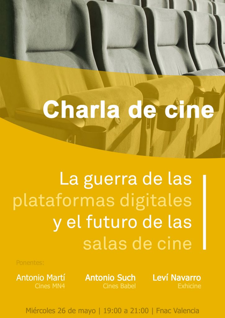 CHARLA DE CINE: La guerra de las plataformas digitales y el futuro de las salas de cine
